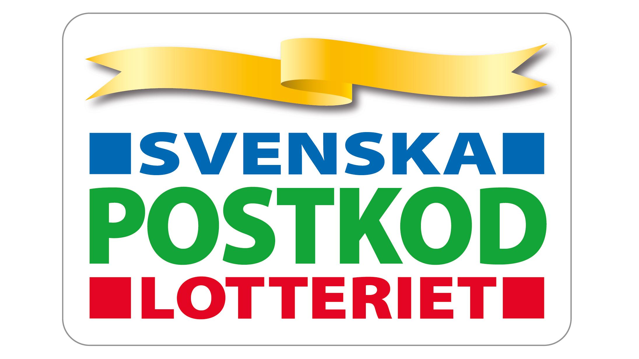 logotyp för Friends huvudpartner Svenska Postkodlotteriet