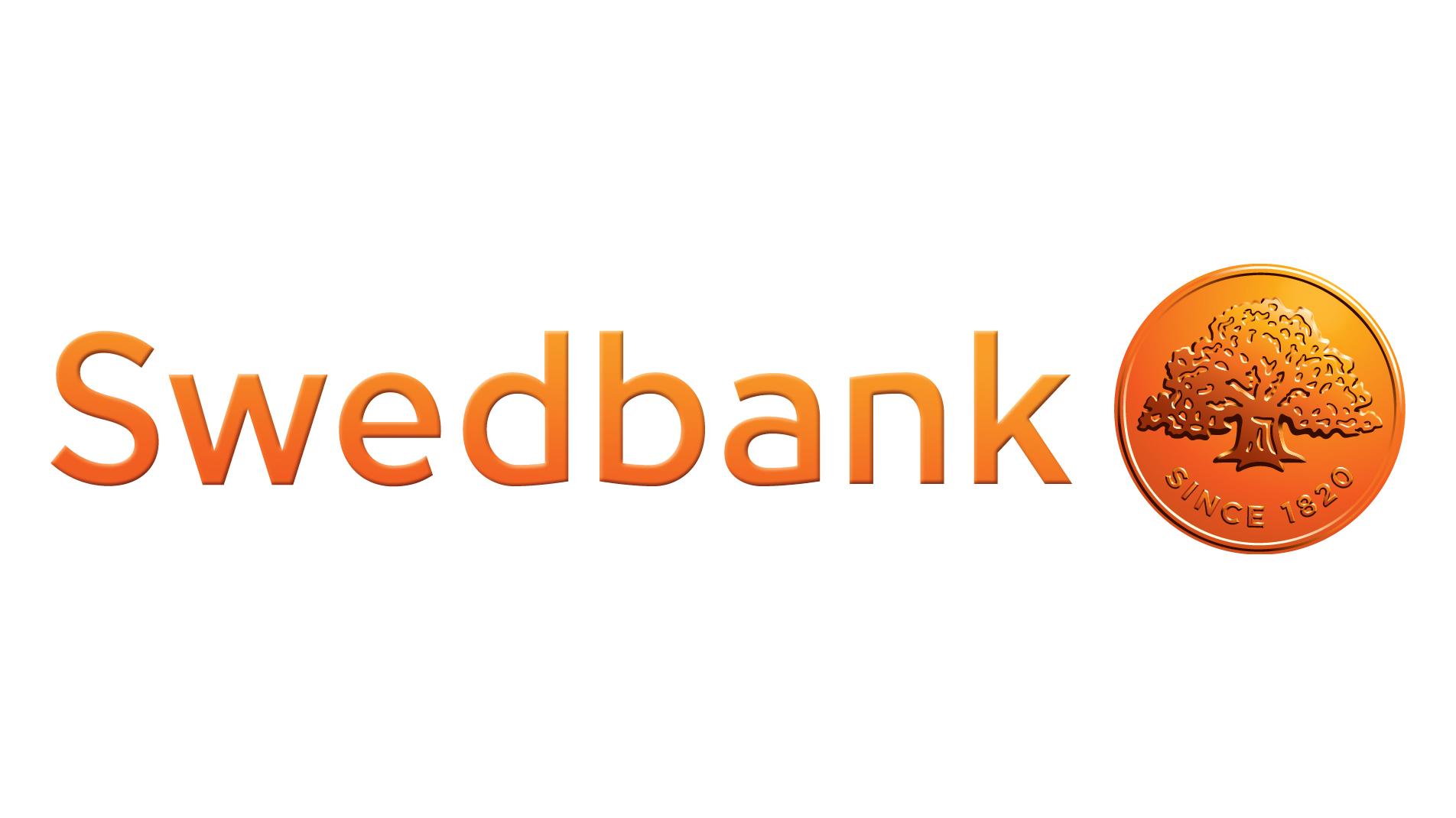 logotyp för Friends huvudpartner Swedbank