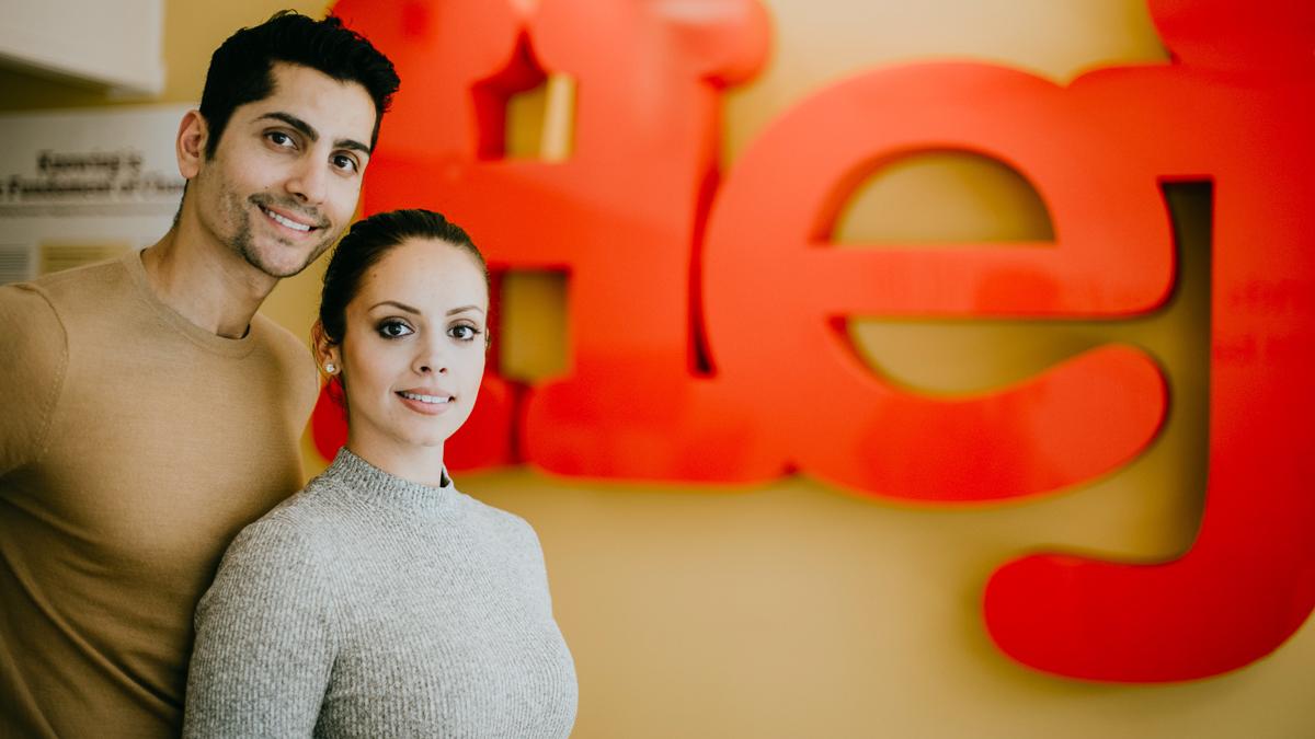 Goran Asaad och Felicia Margineanu som är Friends ambassadörer.