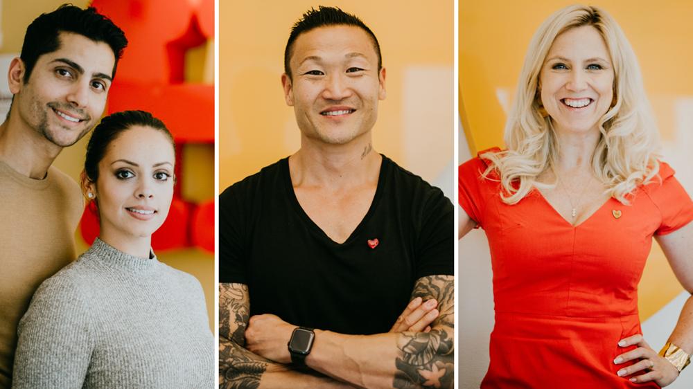 Frida Boisen, Mårten Nylén, Goran Asaad och Felicia Margineanu är Friends ambassadörer