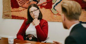 Friends träffade utbildningsminister Anna Ekström