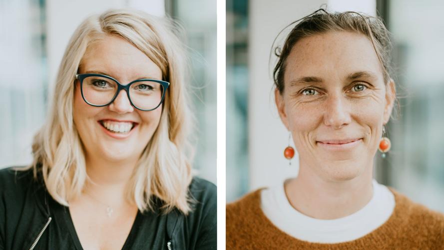 porträtt på Åsa Gustafsson och Anna-Carin Wettefors som jobbar med Friends rådgivning