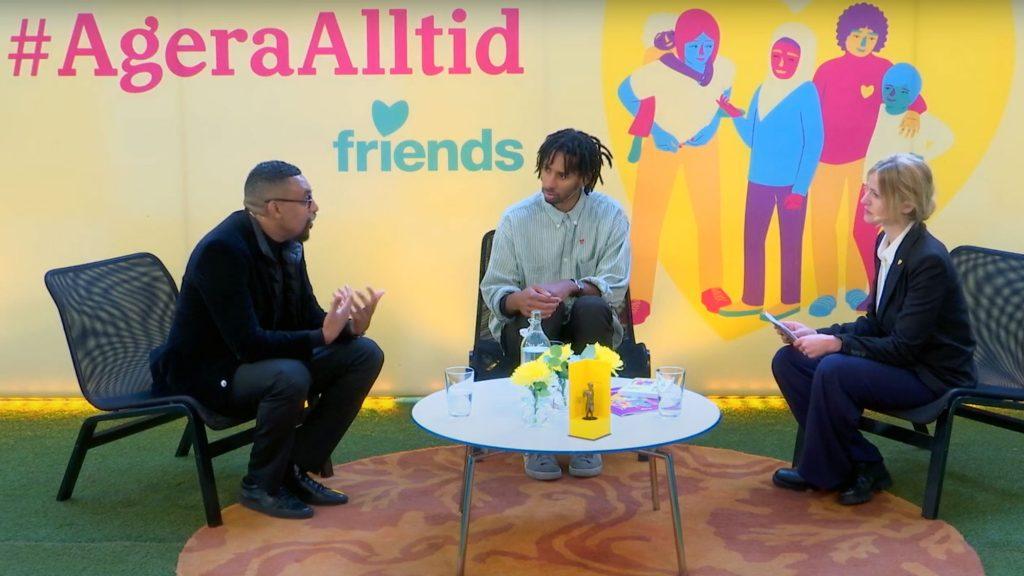 """Bild från inspelningen av samtalsserien """"Vi måste prata"""""""